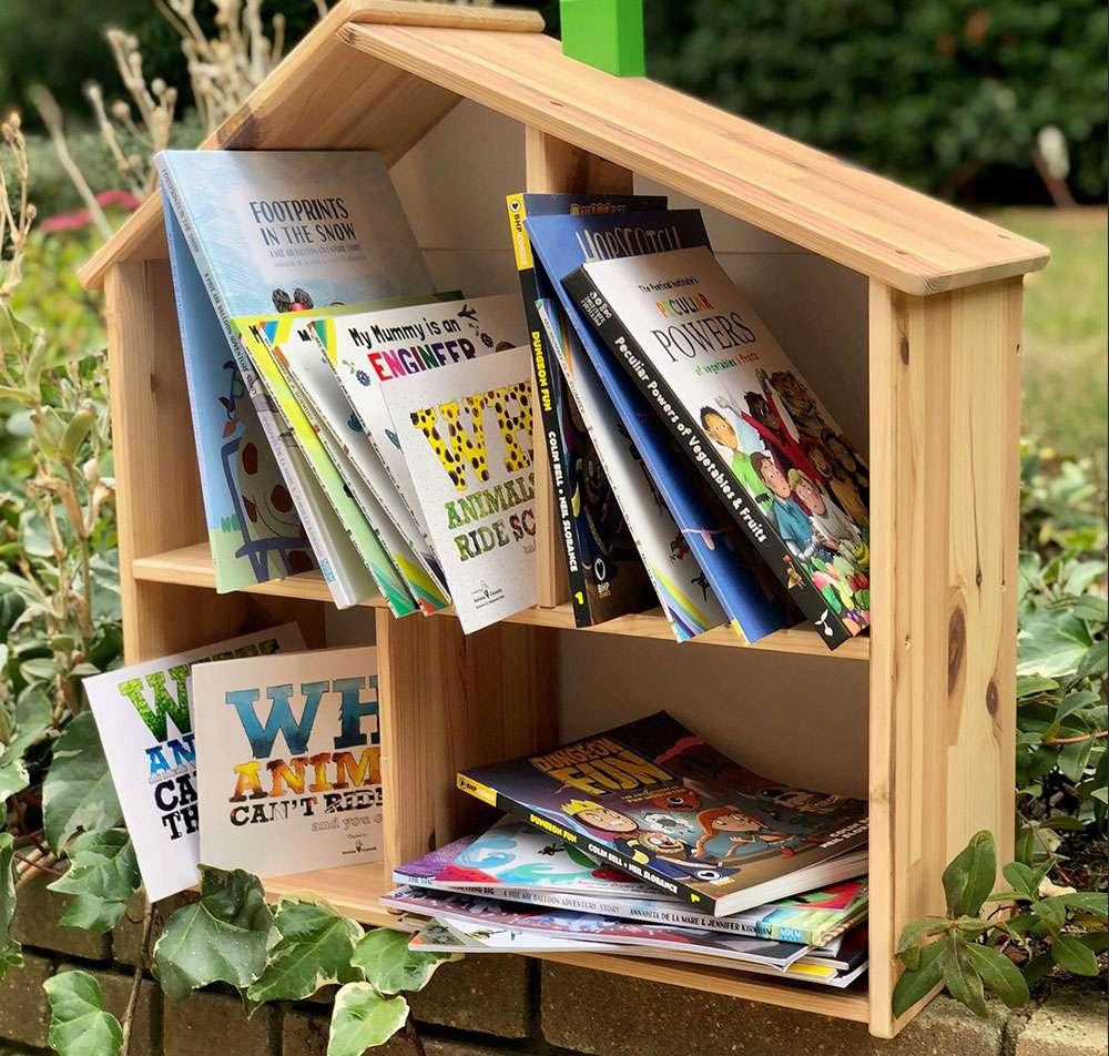 Bookcase with children's books