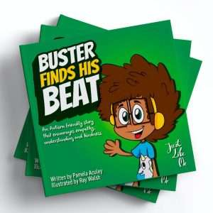 World book day Buster Finds His beat book cover